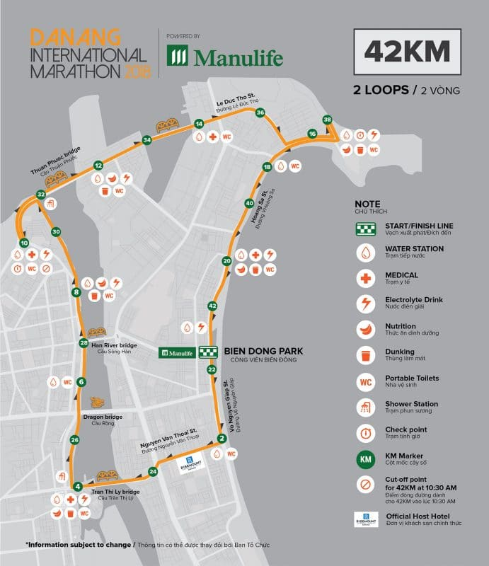 MANULIFE DANANG INTERNATIONAL MARATHON 2018: RACE INFO